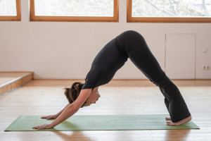 downward facing dog pose  yoga of presence